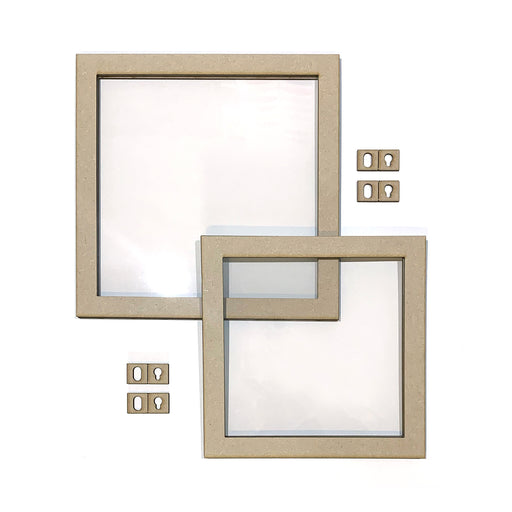 MDF Floating Frames - Square, pack of 2