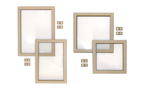 MDF Floating Frames - Portrait & Square, pack of 4