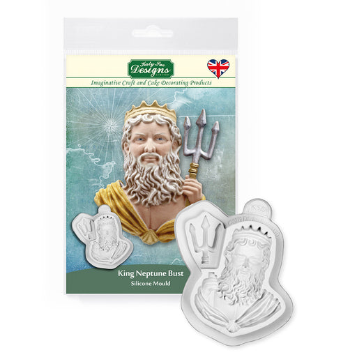 King Neptune Bust Silicone Mould
