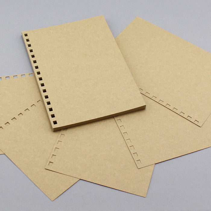 Build a Book A5 Punched Cardstock -  24 Sheets Kraft 280gsm