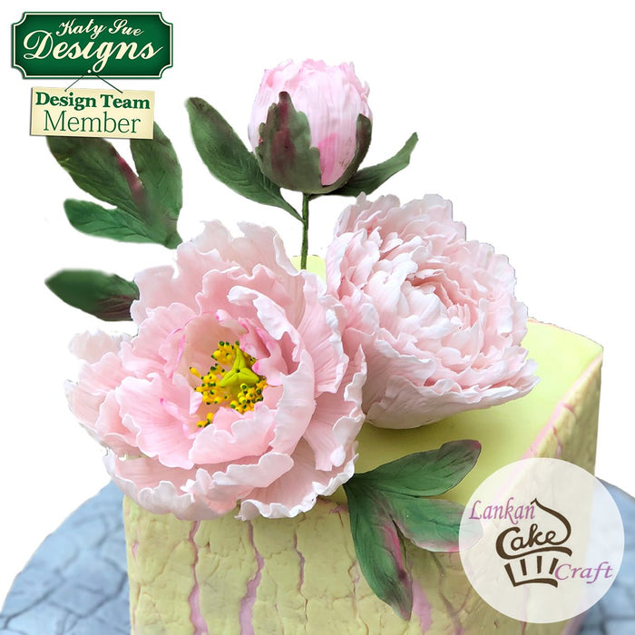 CD - Cake Idea using the Flower Pro Peony Leaves Mould
