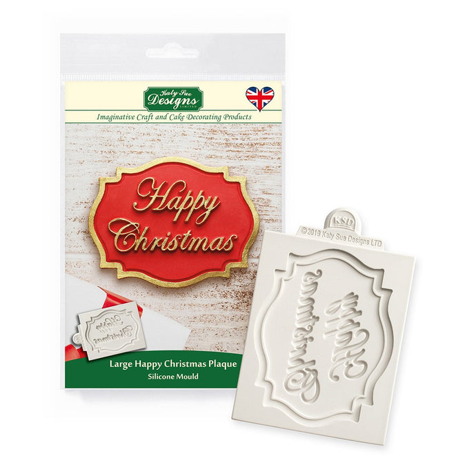C&D - Happy Christmas Large Plaque Mould