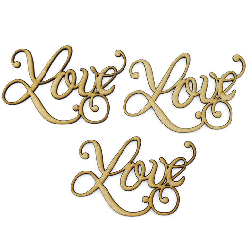 MDF Embellishment Words - Love - Set of 3