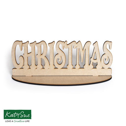 MDF Freestanding Christmas Word and Base
