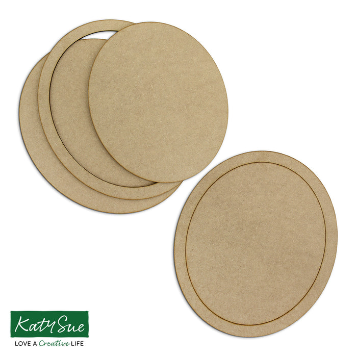 MDF Large Oval Frames (Set of 2)