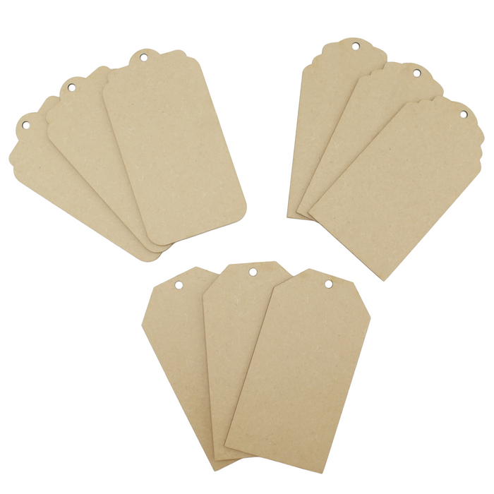 MDF Extra Large Tags (Pack of 9)