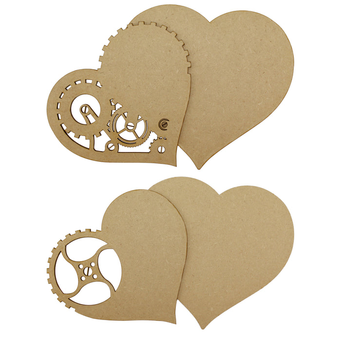 MDF Steampunk Heart Collection