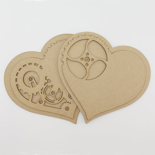 MDF Steampunk Hearts
