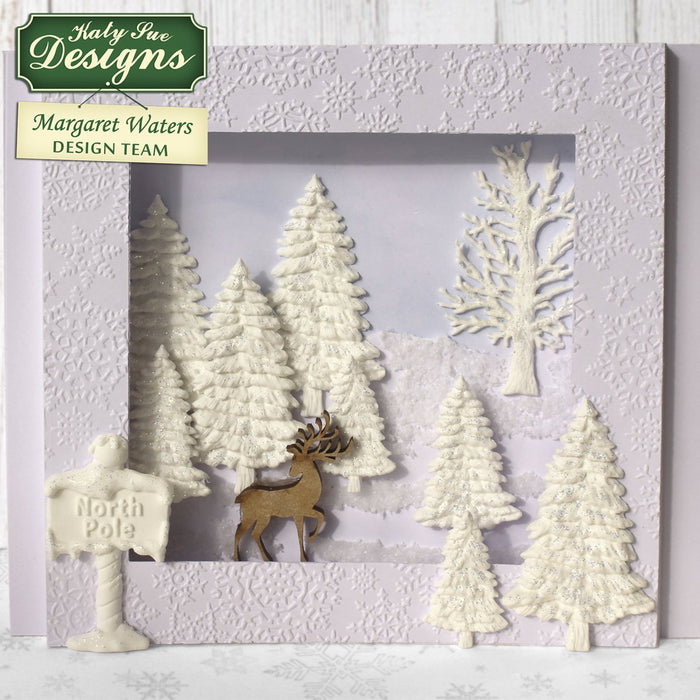 C - An idea using the Fir Trees Silhouettes Silicone Mould