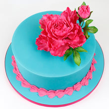 CD - Cake Idea using the Peony / Tulip Mould and Veiner