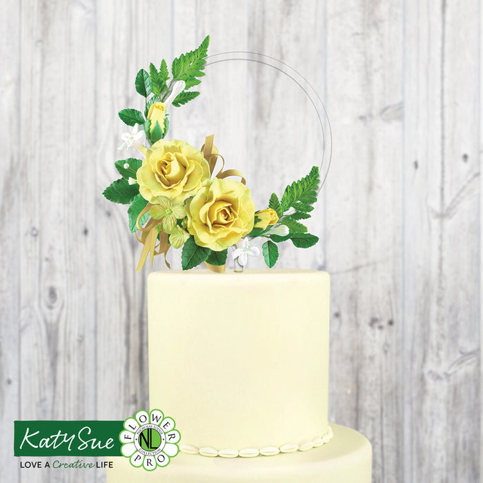 Easy Flower Hoop Clear Cake Topper