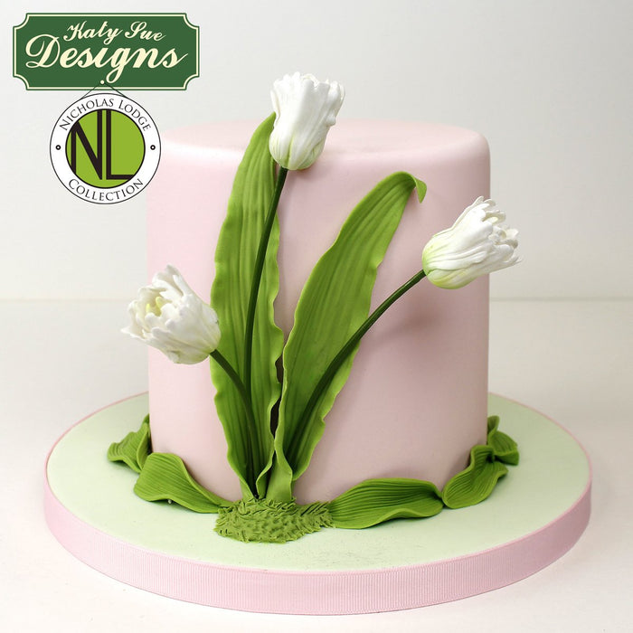 CD - Cake Idea using the Calla Lily & Tulip Leaf Vein & Texture Set