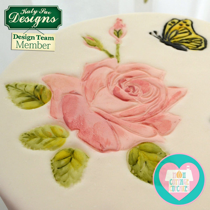 CD - Cake Decorating Mould using Roses Silicone Embossers