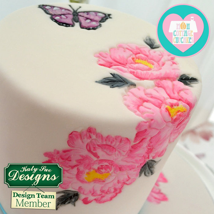 CD - Cake Decorating Mould using Butterflies Silicone Embossers