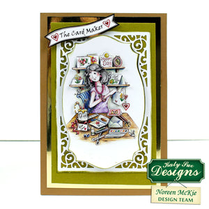 C - gold framed 3D The card maker paper craft card