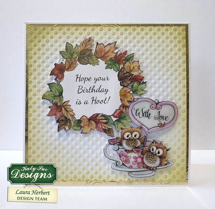 Hand Drawn Pictures Created by Teresa Goodridge Card Making Kit Works with Dies Makes 80 Card Toppers Owls Paper Craft Pads