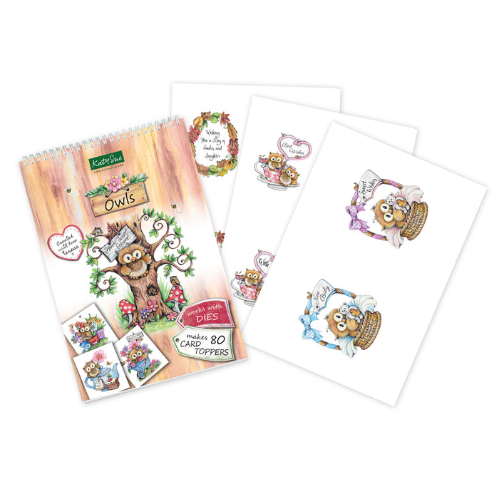 Owls Collection l Paper Craft Pad (Not Die Cut)