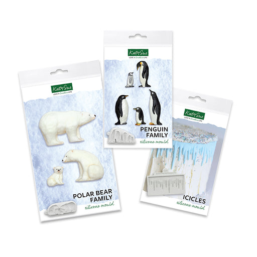 Penguins, Polar Bears and Icicles Silicone Mould Bundle (website exclusive)