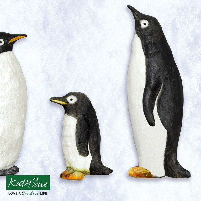 Penguin Family Silicone Mould