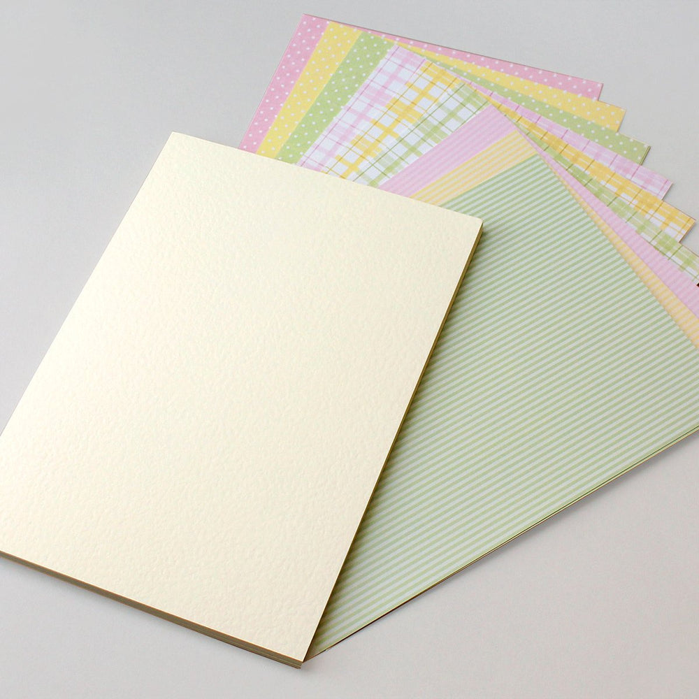 Pretty Fabric Pastels Card (Pack of 48)