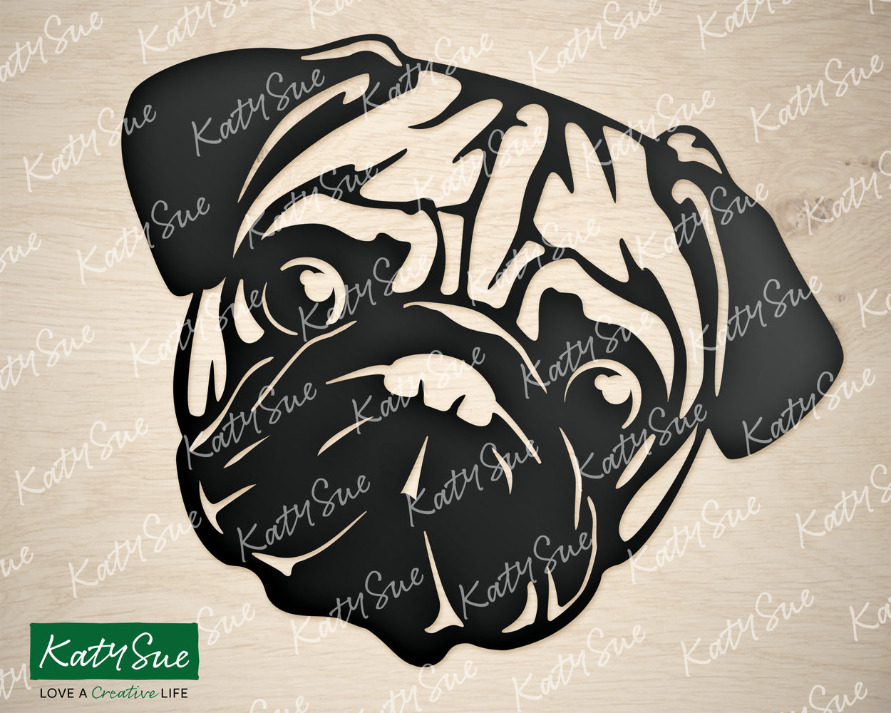 Pug | Digital Cutting File