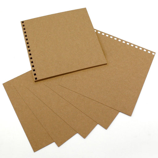 Build a Book 8 x 8 Punched Cardstock- 24 Sheets Kraft 280gsm