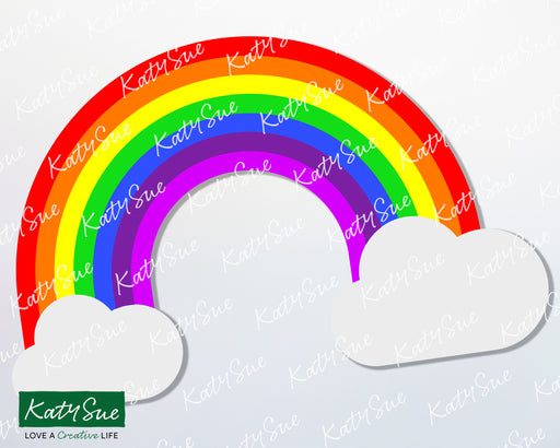 Rainbow with Clouds | Digital Cutting File
