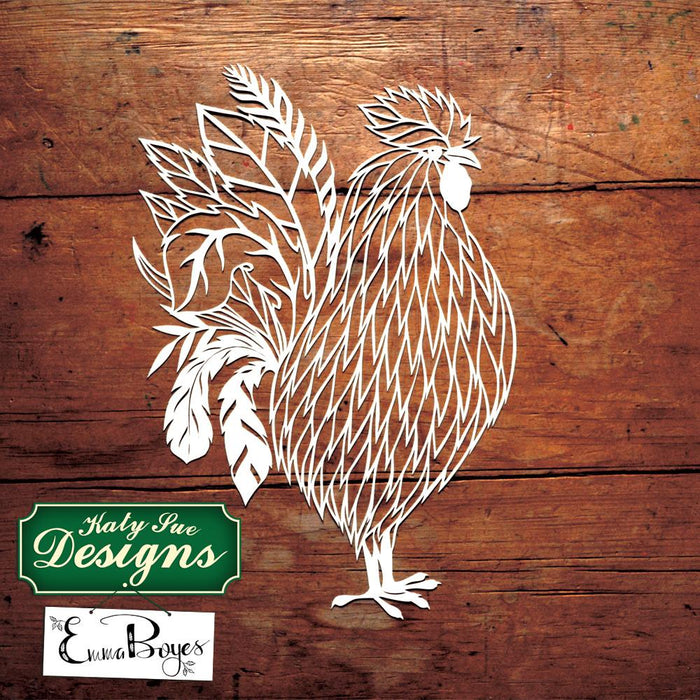 C - Paper Cut Rooster