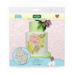 C&D - Cake Decorating Mould using Roses Silicone Embossers