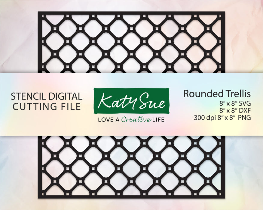 Rounded Trellis Stencil | Digital Cutting File
