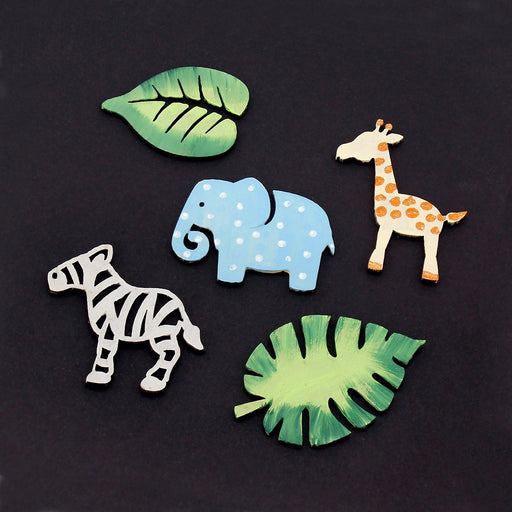 MDF Safari Animal Embellishments - set of 20
