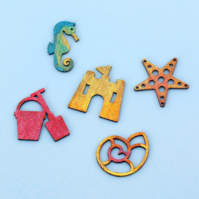 MDF Seaside Embellishments Set of 20