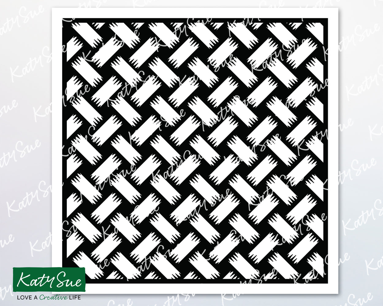 Shaded Weave Stencil | Digital Cutting File