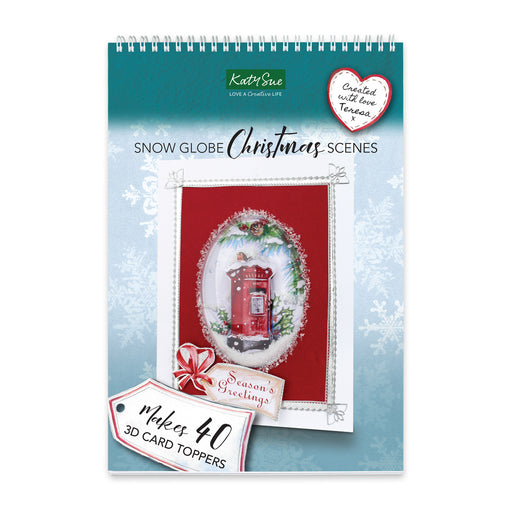 Snow Globe Christmas Scenes & Flower Soft Kit | Paper Craft Pad (Not Die Cut)