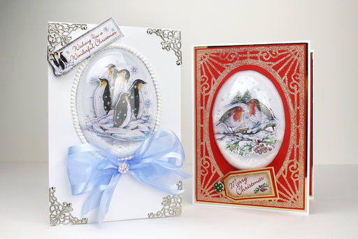 Snow Globe Winter Animal Scenes (Not Die Cut)