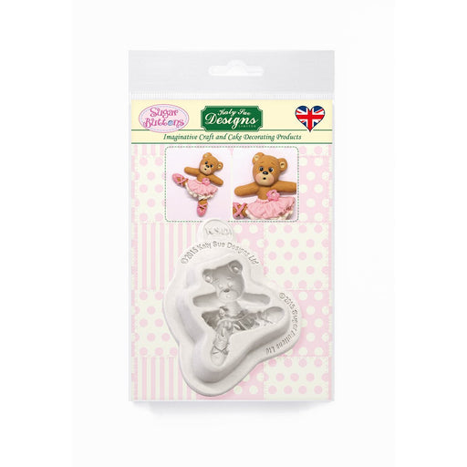 C&D - Ballerina Teddy Sugar Buttons Silicone Mold pack shot