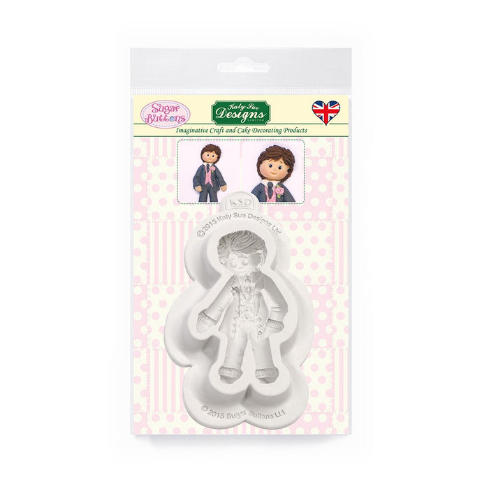C&D - Groom Sugar Buttons Silicone Mould pack shot