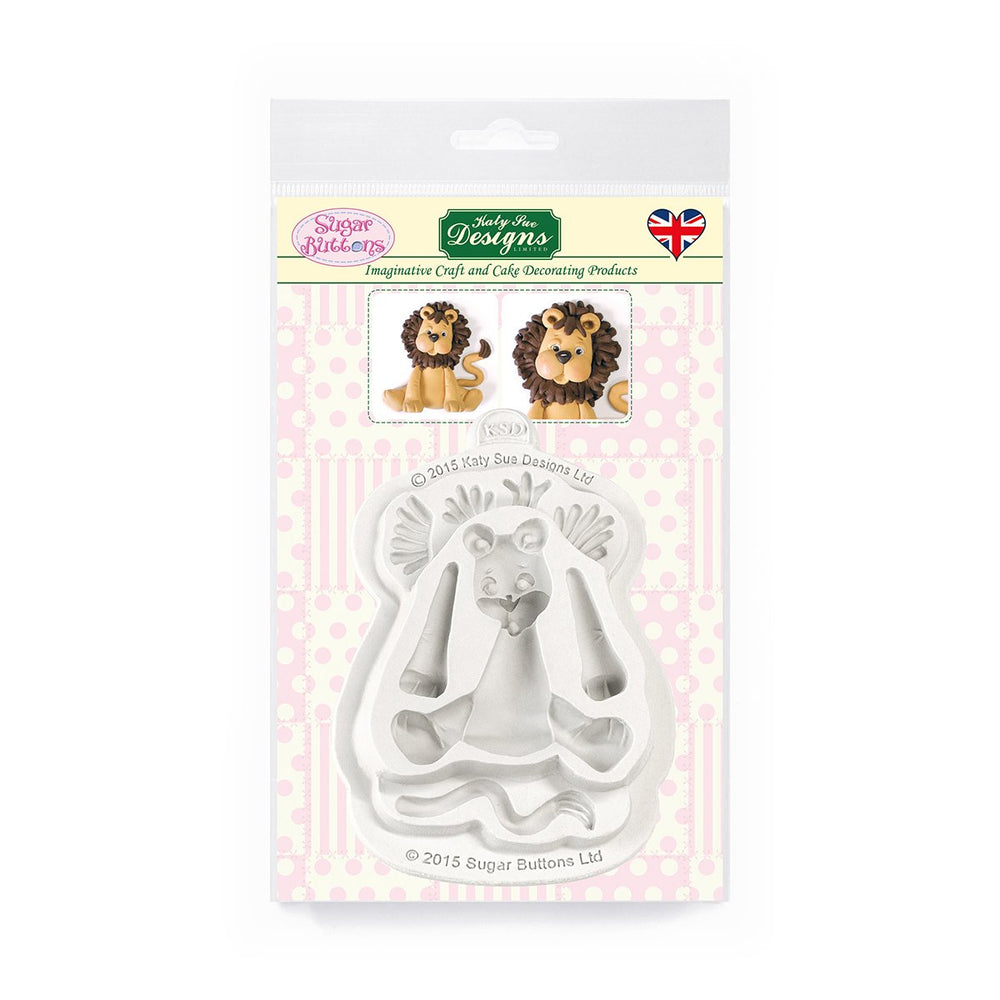 C&D - Lion Sugar Buttons Silicone Mold pack shot