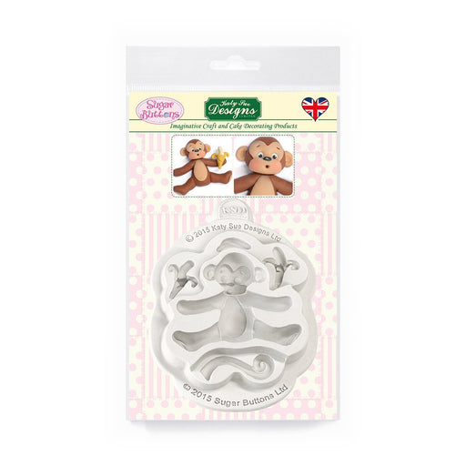 C&D - Monkey Sugar Buttons Silicone Mould pack shot