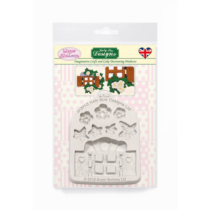 C&D - Enchanted Window & Flowers Sugar Buttons Mold pack shot