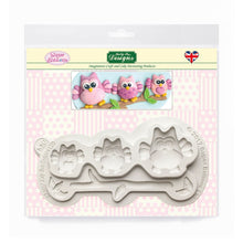 C&D - Owl Sugar Buttons Silicone Mould pack shot