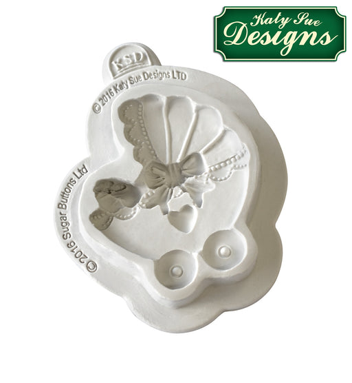 Sugar Buttons Pram Silicone Mould