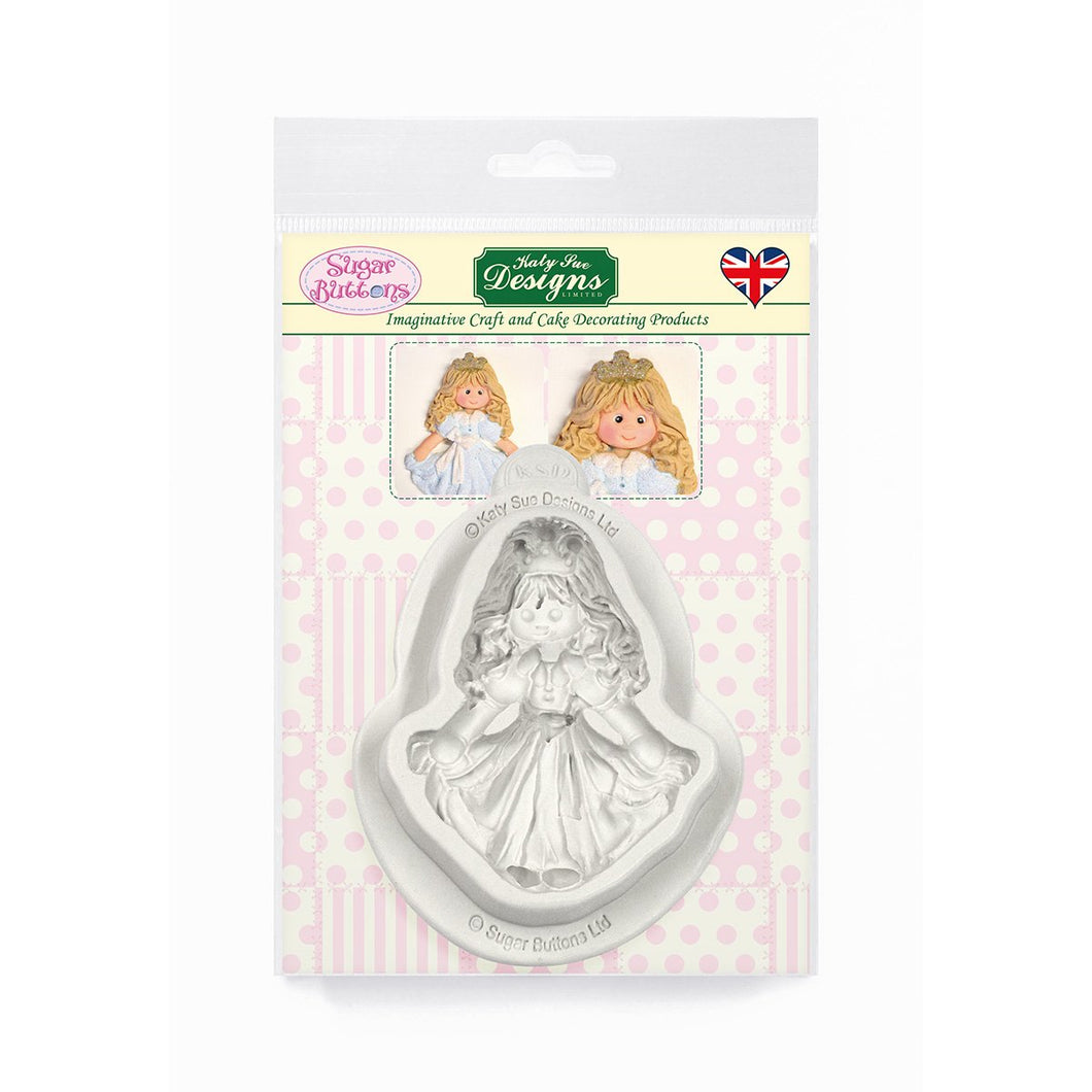 C&D - Princess Sugar Buttons Silicone Mould pack shot