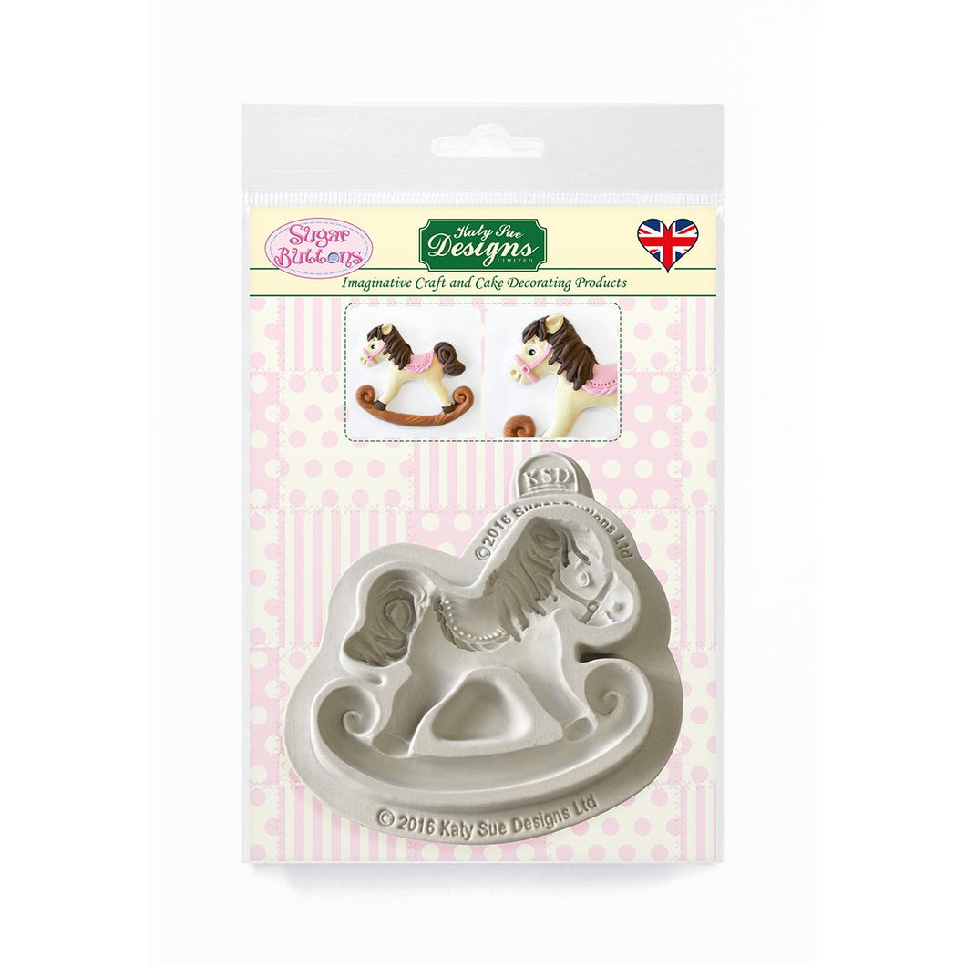 C&D - Rocking Horse Sugar Buttons Silicone Mould pack shot