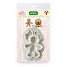 C&D - Gingerbread Man Sugar Buttons Silicone Mould pack shot