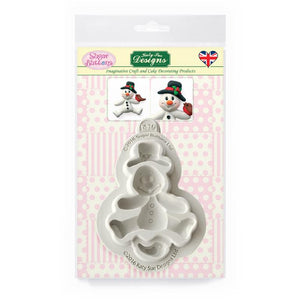 C&D - Snowman Sugar Buttons Silicone Mould pack shot