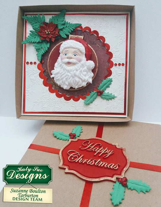 C - Happy Christmas Large Plaque Mould