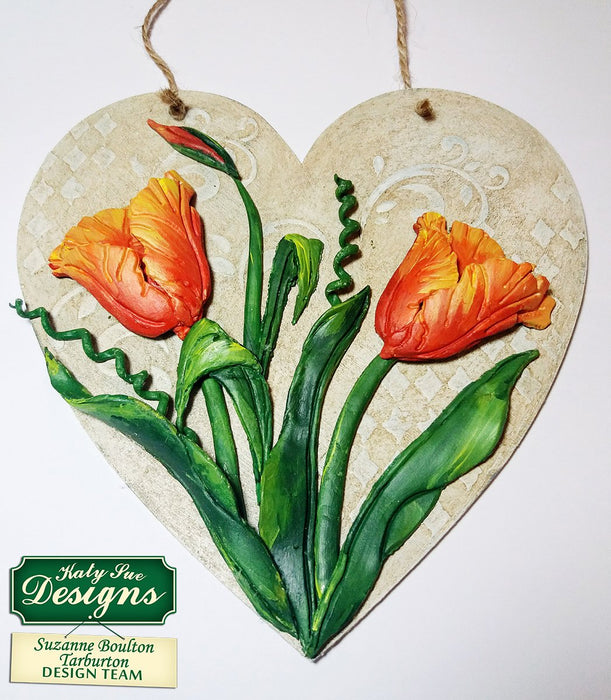 C - Craft Idea using Tulips Silicone Embossers
