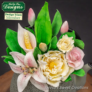 CD - Craft Idea using the Flower Pro Lily Buds Mould