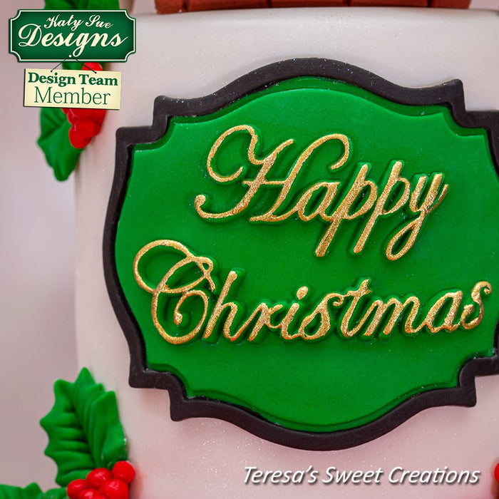 CD - Happy Christmas Large Plaque Mould